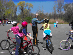 School bike safety program in Wharton