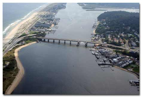 aerial photo of existing bridge