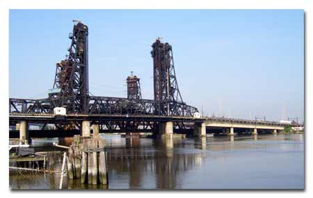 The Route 7 Wittpenn Bridge over the Hackensack River photo.